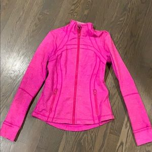 Lululemon jacket hot pink size 8